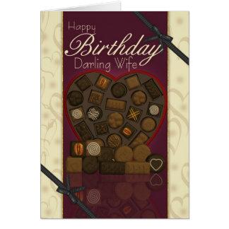 Wife Birthday Card - Chocolates