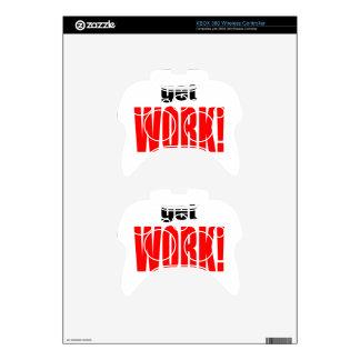 WIFE BLAMING blame husband work going red job get Xbox 360 Controller Skin