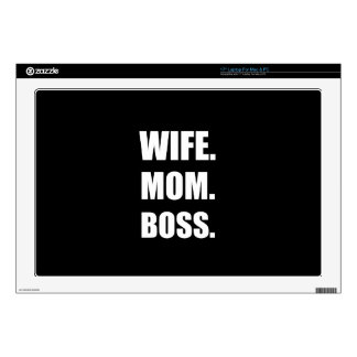Wife Boss Mom Decal For Laptop