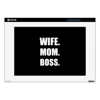 Wife Boss Mom Decals For Laptops