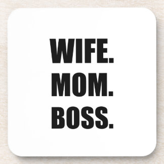 Wife Boss Mom Drink Coaster