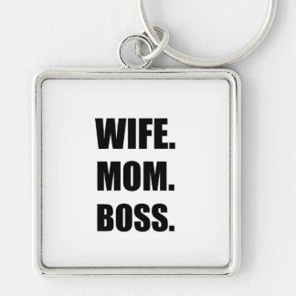 Wife Boss Mom Keychain