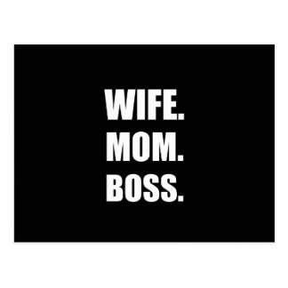Wife Boss Mom Postcard