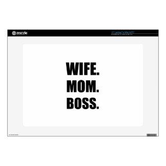 Wife Boss Mom Skin For Laptop