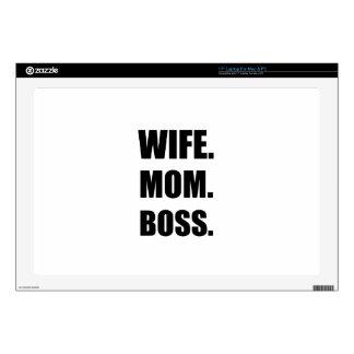 """Wife Boss Mom Skins For 17"""" Laptops"""