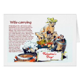 Wife-carrying Valentine message Card
