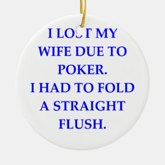 wife ceramic ornament