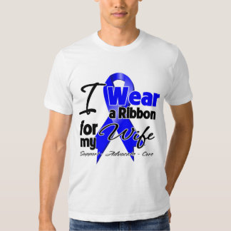 Wife - Colon Cancer Ribbon T-shirt