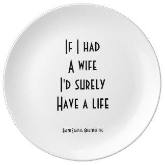 Wife Dinner Plate