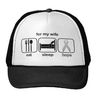Wife Eat Sleep Hope - Lung Cancer Trucker Hat