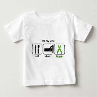 Wife Eat Sleep Hope - Lymphoma Baby T-Shirt