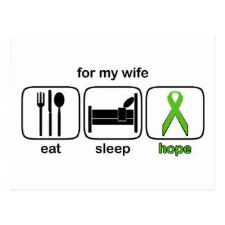 Wife Eat Sleep Hope - Lymphoma Postcard