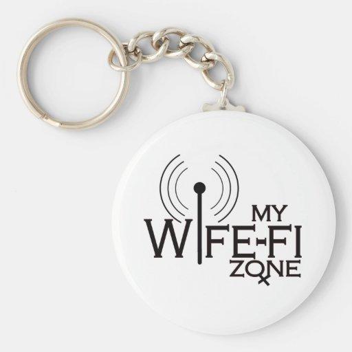 WIFE-FI-BLACKink Keychain