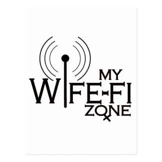 WIFE-FI-BLACKink Postcard