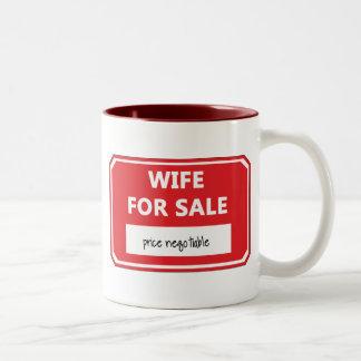 Wife for sale Two-Tone coffee mug