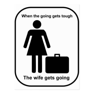 wife_gets_going_Black Tarjeta Postal