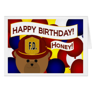Wife - Happy Birthday Firefighter Hero! Card