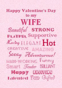 Happy Wife Valentine S Day Cards Zazzle