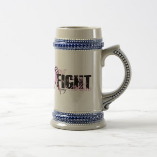 Wife Hero - Fight Breast Cancer Beer Stein