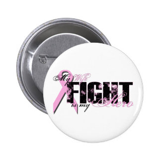 Wife Hero - Fight Breast Cancer 2 Inch Round Button