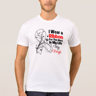 Wife Hero in My Life Lung Cancer Tee Shirts