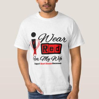 Wife - I Wear Red Ribbon Heart Disease T Shirt