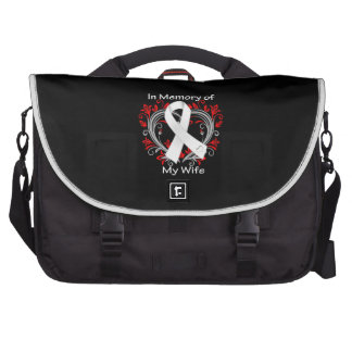 Wife In Memory Lung Cancer Heart Laptop Commuter Bag