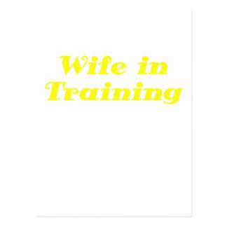 Wife in Training Postcard