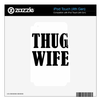 wife iPod touch 4G decal