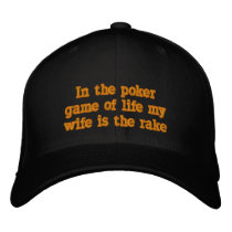 Wife is the rake embroidered baseball cap