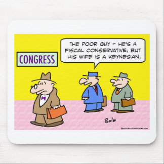 wife keynesian congress fiscal conservative mouse pads