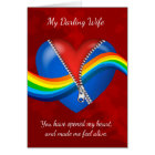 Wife, Lesbian, Valentine's Day Card With Zipper He