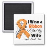 Wife - Leukemia Ribbon Magnets