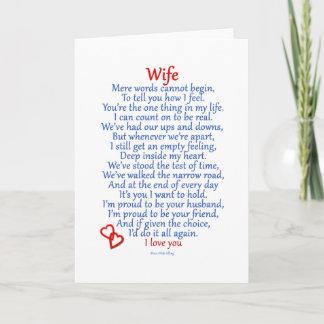 Wife Love Holiday Card