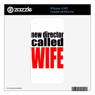 wife marriage joke director newlywed reality quote iPhone 4S decal