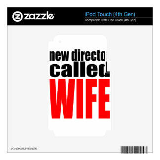 wife marriage joke director newlywed reality quote iPod touch 4G skin