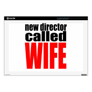 wife marriage joke director newlywed reality quote laptop skin