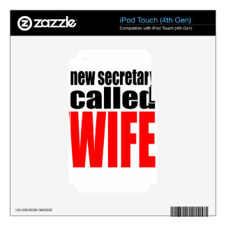 wife marriage joke marrying newlywed reality quote iPod touch 4G decal
