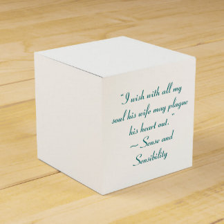 Wife May Plague His Heart Jane Austen Quote Favor Boxes