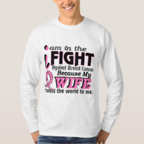 Wife Means The World To Me Breast Cancer T-Shirt