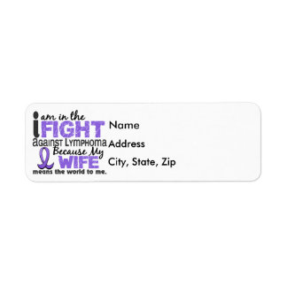 Wife Means World To Me Hodgkin's Lymphoma Label