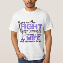 Wife Means World To Me Hodgkin's Lymphoma T-Shirt