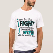 Wife Means World To Me Ovarian Cancer T-Shirt