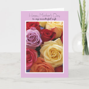 for my wife on mothers day cards zazzle