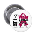 Wife - Multiple Myeloma Ribbon Pinback Button