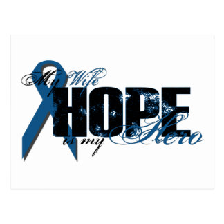 Wife My Hero - Colon Cancer Hope Postcard