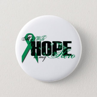 Wife My Hero - Kidney Cancer Hope Button
