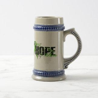 Wife My Hero - Lymphoma Hope 18 Oz Beer Stein