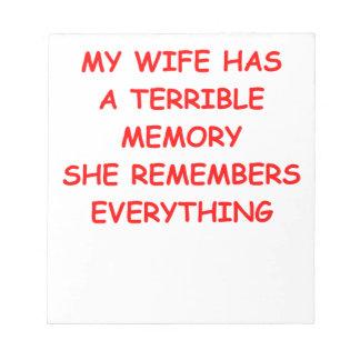 WIFE MEMO PADS