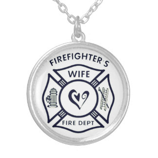 Wife of a firefighter necklace